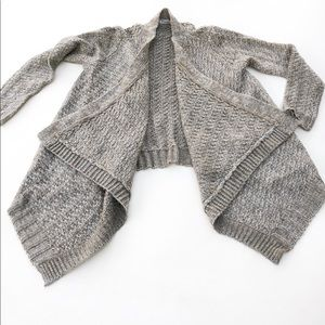 Mayoral Open Sweater Cardigan Wrap Gray Girl 12